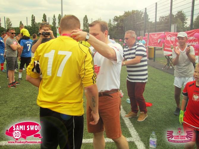 Wręczenie medali - Puchar Ligi Sami Swoi Przekazy Pieniężne 2014