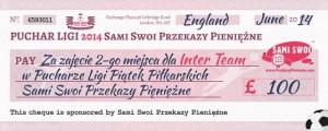 Piłkarska liga Sami Swoi - 2 miejsce Inter Team