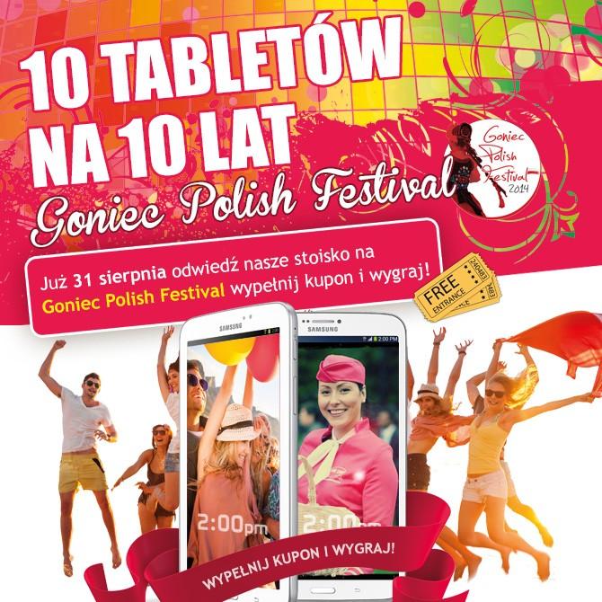Wygraj tablet na 10 lecie Sami Swoi podczas Goniec Polish Festival
