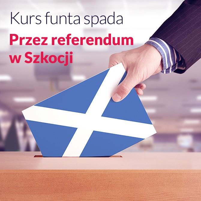 Jak referendum w Szkocji wpływa na sytuację brytyjskiej waluty