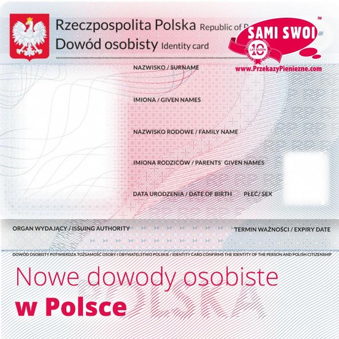Nowe dowody w Polsce od 2015