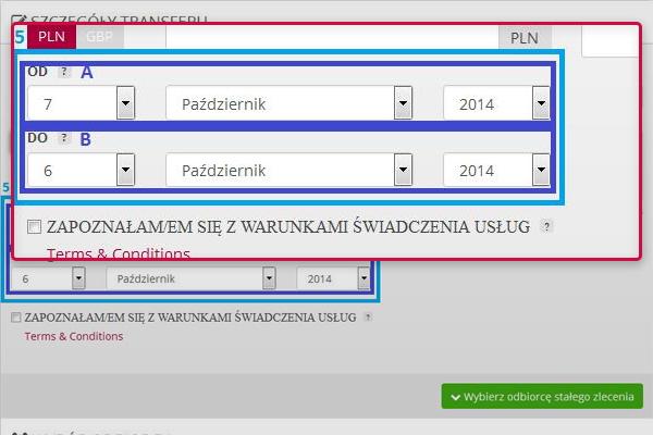Przelewy do Polski przez internet-stałe zlecenia