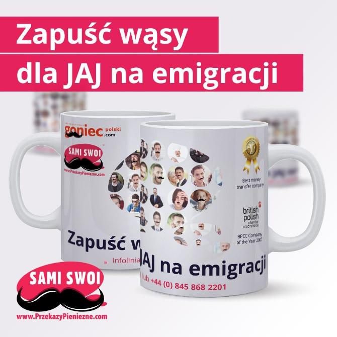 """Konkurs Movember – """"Wąstopad"""" w Sami Swoi Przekazy Pieniężne"""