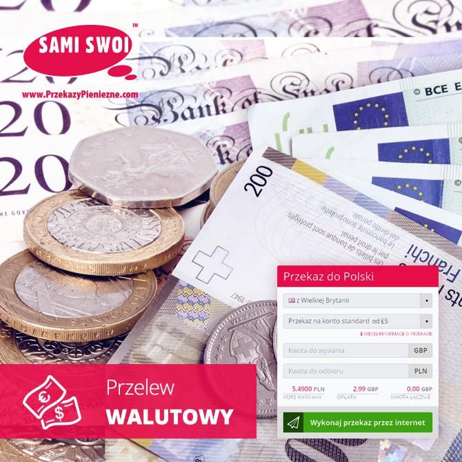 Przelewy walutowe – przelewaj na konta we frankach, funtach, euro i dolarach!