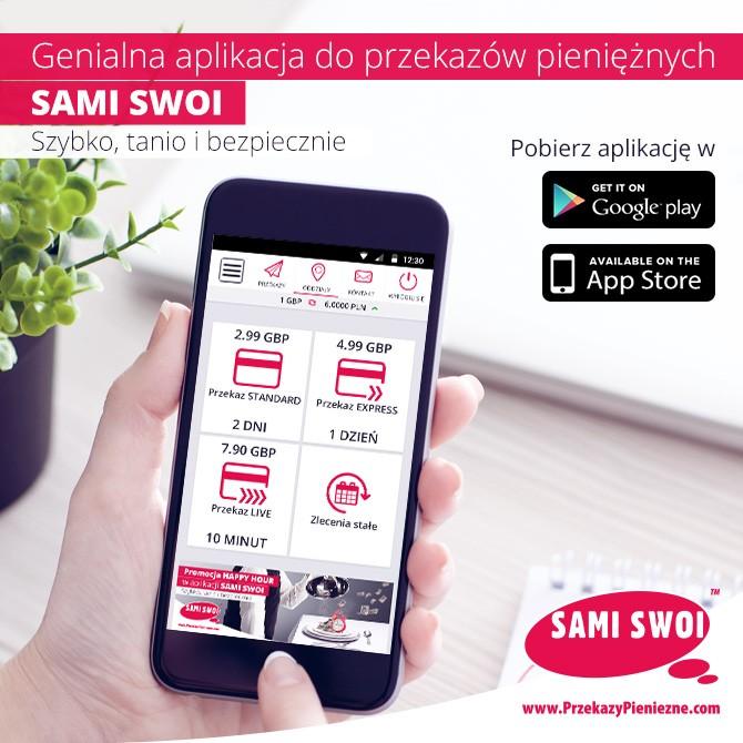 Jedyna taka aplikacja na rynku przekazów pieniężnych!