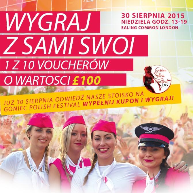 Wygraj 1 z 10 voucherów o wartości £100 podczas Goniec Polish Festival