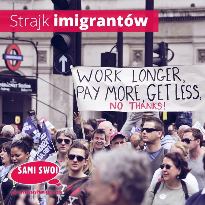 strajk enigrantów wpis sami swoi
