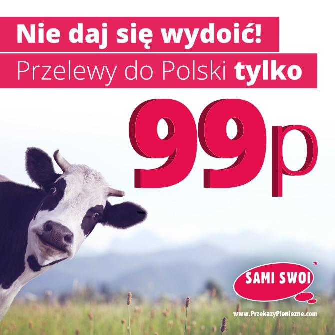 Nie daj się wydoić! Przelewy do Polski tylko 99p