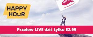 Przelew LIVE tylko 2.99 GBP