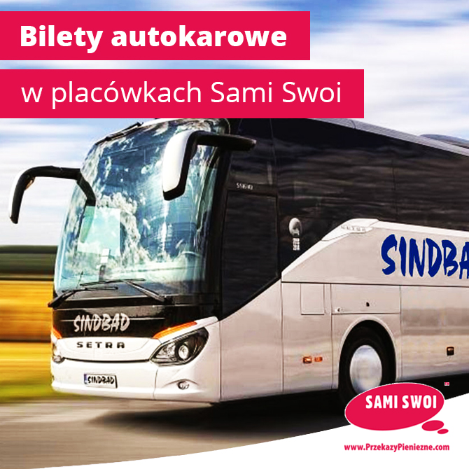 Bilety autokarowe w placówkach Sami Swoi!