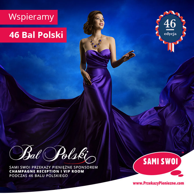 Sami Swoi Przekazy Pieniężne – sponsor 46 Balu Polskiego.