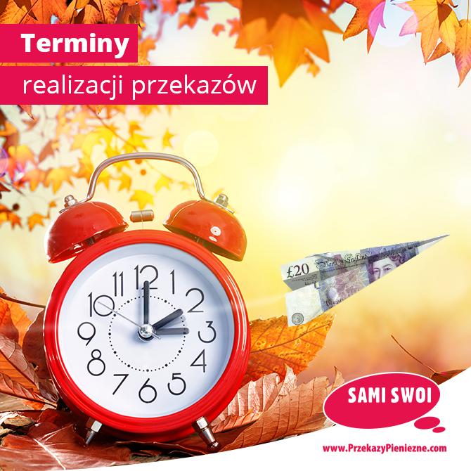 Zmiana czasu realizacji transferów do Polski.