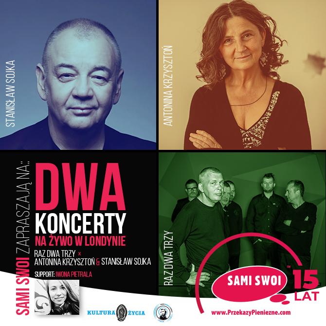 Dwa koncerty, wybitni polscy artyści, Sami Swoi sponsorem
