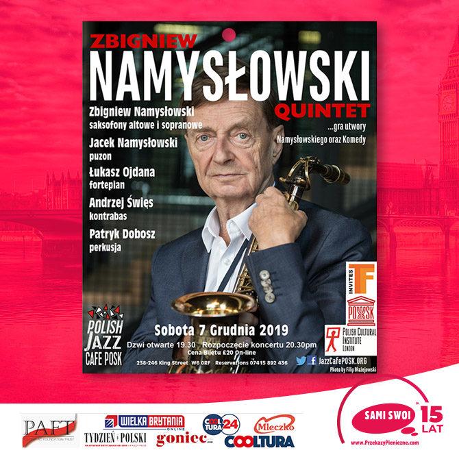 Zbigniew Namysłowski Quintet  …gra utwory Namysłowskiego oraz Komedy`