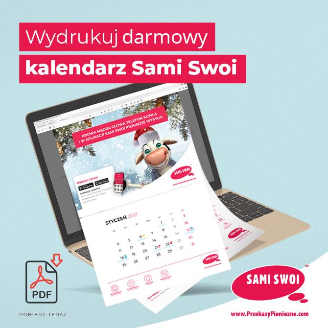 Kalendarz Sami Swoi na 2021 r. Pobierz za darmo!
