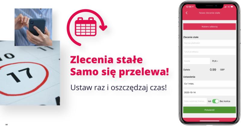 aplikacja mobilna do przekazow do Polski
