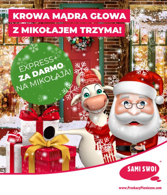 Mikołaj z Krową Mądrą Głową!